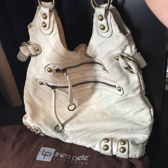 Off white Linea Pelle leather tote